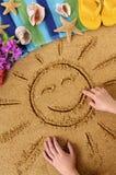 Hawaii beach child smiling sun Stock Images
