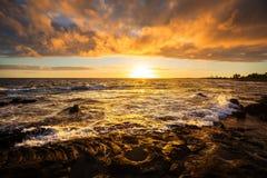 Hawaiian beach at sunrise Stock Photo