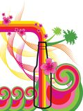 Hawaiian bottle breeze. Illustrated background Stock Photography