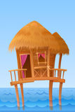 Hawaiian bungalow Stock Images