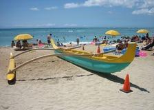 Hawaiian canoe 01 Royalty Free Stock Images