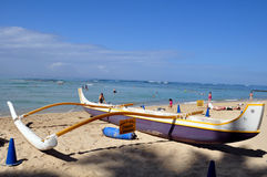 Hawaiian canoe Royalty Free Stock Photos