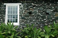 Hawaiian Church Window Stock Photo