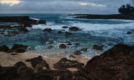 Hawaiian Coast at Sunset Stock Photography