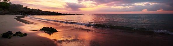 Hawaiian coast. Hawaiian volcanic coast stock photos