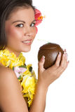 Hawaiian Coconut Girl Stock Photos