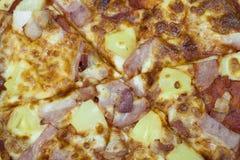 Hawaiian da pizza Fotografia de Stock
