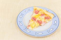 Hawaiian da pizza fotos de stock