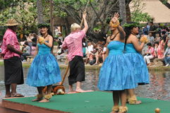 Hawaiian dance at the Polynesian Cultural Center Royalty Free Stock Photography