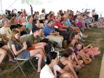 Hawaiian Dance Troupe Audience Stock Images