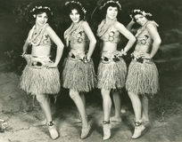 Hawaiian dancers royalty free stock photo