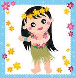 hawaiian della ragazza illustrazione di stock