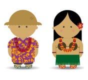 hawaiian della ragazza del ragazzo Royalty Illustrazione gratis