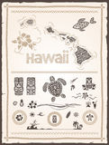 Hawaiian Design Elements Royalty Free Stock Images