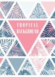 Hawaiian design with tropical plants Stock Photos