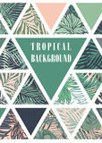 Hawaiian design with tropical plants Stock Images