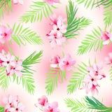 Hawaiian exotic seamless vector print Royalty Free Stock Photo