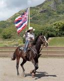 Hawaiian Flag. Event:  High School Rodeo 08.IV.17 Stock Image