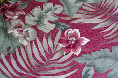 Hawaiian floral fabric pattern Stock Image