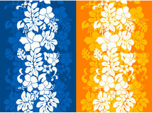 Hawaiian Floral Seamless Background Stock Photos