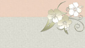 Hawaiian Flower Background. Designed with metal like Hawaiian flowers over a soft peach and taupe background. Perfect for printing stock illustration