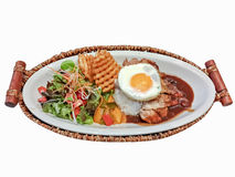 Hawaiian food ,loco moco Royalty Free Stock Photos