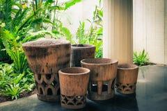 Hawaiian Garden Planters Royalty Free Stock Photo
