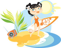 Hawaiian girl Stock Images