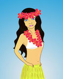 Hawaiian girl Stock Photo