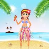 Hawaiian girl Stock Image