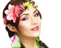 Hawaiian girl make up Royalty Free Stock Images