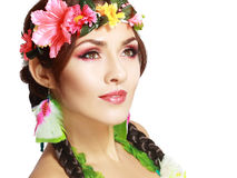 Hawaiian girl make up Royalty Free Stock Image