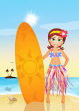 Hawaiian girl in summer Stock Image