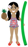 Hawaiian Girl Swimsuit Royalty Free Stock Photography