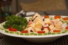 Hawaiian  ham salad with salad dressing Stock Photo