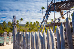 Hawaiian historical dwellings Royalty Free Stock Photos