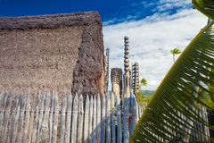 Hawaiian historical dwellings Royalty Free Stock Image