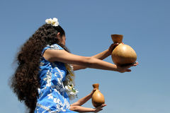 Hawaiian hula dance Stock Image