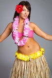 Hawaiian Hula Dancer Girl Stock Photo