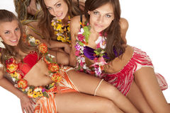 Hawaiian Hula Dancer Girls stock photos