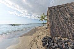 Hawaiian hut on the beach. On big island Stock Photography