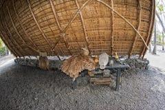 Hawaiian hut on the beach. On big island Stock Image
