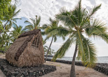 Hawaiian hut on the beach Royalty Free Stock Photos