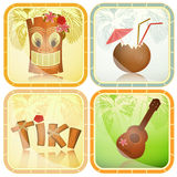 Hawaiian icons set Royalty Free Stock Image