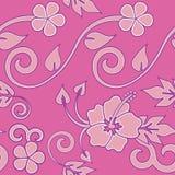 Hawaiian inconsútil - color de rosa Fotografía de archivo