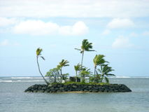 Hawaiian Island. A miniature island off the coast of Kahala Royalty Free Stock Photography