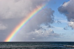 Hawaiian Island Rainbow. Rainbow on the Hawaiian Island of Kauai near Poipu Royalty Free Stock Photo