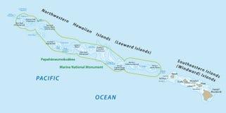 Hawaiian islands map Royalty Free Stock Photography