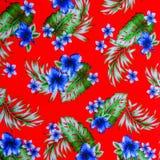 Hawaiian jungle print made of textured Stock Images