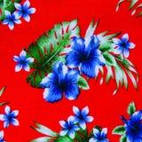 Hawaiian jungle print made of textured Stock Photography